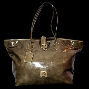 Dooney and Bourke Large Cindy Patent Leather Tote